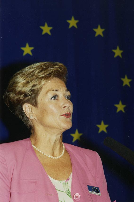 Ruth Feldgrill-Zankel bei der EU-Ministerkonferenz in Graz, September 1997, Fotograf: Peter Philipp