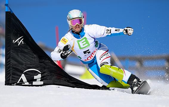 LACHTAL, AUSTRIA, 06.FEB.16 - SNOWBOARD - Austrian Championships, parallel slalom, ladies. Image shows Marion Kreiner (AUT). Photo: GEPA pictures/Christian Walgram.